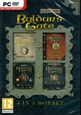 Baldur's Gate (4 in 1 Collection)SWORD COAST+Throne of Bhaal (4 PC Games) NEW