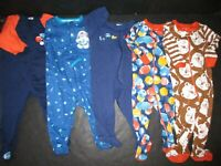 Baby Boy 6-9 Months Sleepers All Zip Up  Sleepwear Clothes Lot