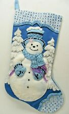 "Snowman 16"" Christmas Stocking FINISHED!"