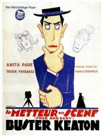 OLD MOVIE PRINT Free And Easy Poster Buster Keaton On 1929