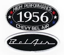 1956 CHEVY BEL AIR SEW/IRON ON PATCH BADGE EMBLEM EMBROIDERED HOT ROD MUSCLE CAR