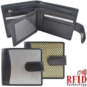 Real Carbon Fibre Alufibre Kevlar Leather Gents Wallet Credit Card Notes ID Pic