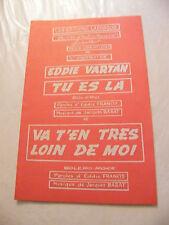 """Partition Tu es la Eddie Vartan Va t'en très loin de moi 1964"""