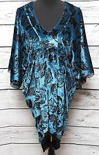 Winter Kate NWT-Sz L-Silk Velvet Kimono Sleeves Mini Dress Floral Roses