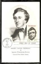 US Scott # 1327 Henry David Thoreau FDC. By Samuel worcester Rowse. Post card