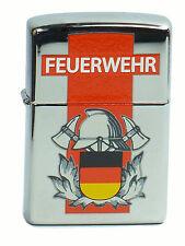 Zippo Feuerwehr Limited Edition Deutschland Chrom poliert Neu Rar aus 2008