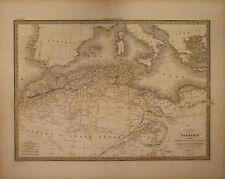 MAROCCO ALGERIA TUNISIA TRIPOLI - CARTE DE LA BARBARIE - Carta Geografica 1854