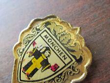 Monchen Jestor Crest Vintage Germany Antique Pin Unusual