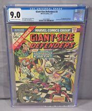 GIANT SIZE DEFENDERS #3 (Korvac 1st app) CGC 9.0 VF/NM Marvel Comics 1975