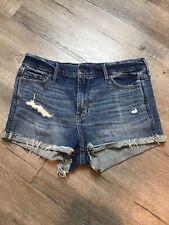 Hollister Distressed Denim Shorts-Short Size 7 Waist 28