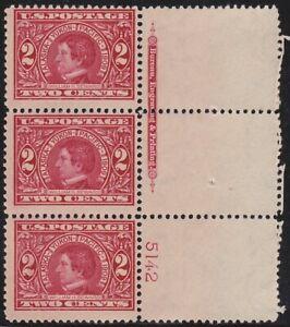 #370 Alaska Yukon 2c Right Plate #5142 & BEP Imprint, Extra Perfs In Margin MNH!