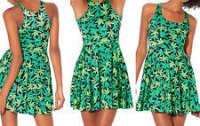 HEMP Dresses Leaf Marijuana Cannabis Print Women's Skater Dress size S M L XL 1#