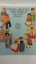 Twins Around The World Paper Dolls Book In Color New Childrens Activity