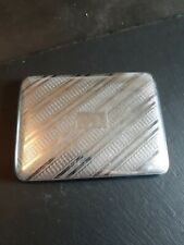 Vintage 1950s Cigarette Case Engibe Turned Crome Plated