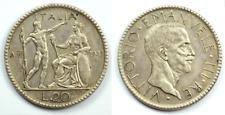 MONETA REGNO D'ITALIA 20 LIRE LITTORE 1927 A VI VITTORIO EMANUELE III ORIGINALE