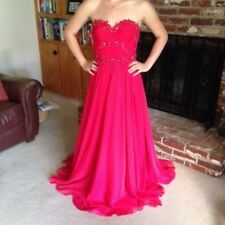 Prom dress - Strapless; Color: Raspberry. Size - S