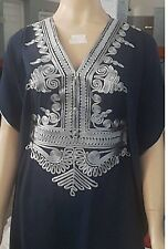 Moroccan kaftan , Embroidery Batwing Maxi Cotton Dress, Arabian One size Abaya