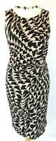 New Planet dress 18 Jersey bodycon Buckle Hound tooth check Black Beige rrp £99