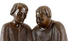 Bronzeskulptur - Lesende Mönche (1932) - signiert Ernst Barlach