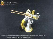 Griffon GMAN005 1/72 U-Boat Type VII C/41 Standard Armament Scheme