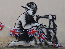 QUALITY BANKSY ART PHOTO PRINT (BOY WORKER)