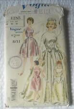 VINTAGE 1960'S VOGUE SEWING PATTERN 4285 WEDDING EVENING DRESS 12 32 INCH BUST