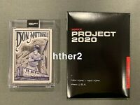 Topps Project 2020 Card #95 - 1984 Don Mattingly by Mister Cartoon FAST SHIPPING