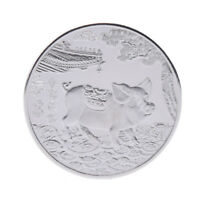 Year of the Pig Silver Plated Chinese Zodiac Souvenir Coin Collectibles GifTE