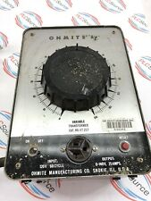 OHMITE VARIABLE TRANSFORMER VT 25 F 120VAC 60 CYCLE INPUT 0-140V 25 AMPS OUTPUT