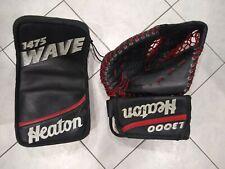 Heaton goalie blocker 1475 wave l3000 glove full right vintage hockey ccm vaughn
