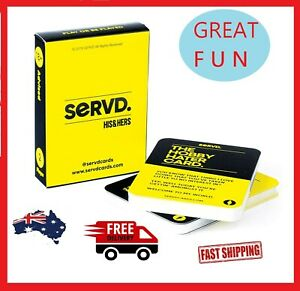 """SERVD - His & Hers - The Hilarious New Real-Life Couples Card Game for Adults """""""""""