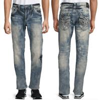 AFFLICTION Mens Denim Jeans ACE FLEUR VALDEZ Embroidered BKE $119 NWT