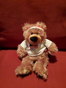 United Ben Flyin Bear 2016 Rio Olympics Plush 12 Inch Bear Stuffed Collectible