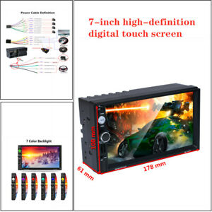 """7"""" Car Bluetooth USB2.0 Touch Screen Phone Mirror link w/Reversing MP5 Player"""