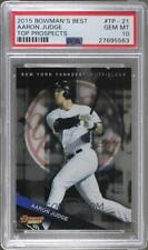 * AARON JUDGE * 2015 BOWMANS BEST TOP PROSPECTS RC GEM MINT PSA 10