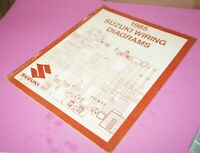 1985 Suzuki Motorcycle Factory Wiring Diagrams Service Manual
