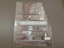 7 BILLETES EURO PLATA 99,9 % SILVER PURE INCLUYE CERTIFICADO DE AUTENTICIDAD