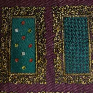Green Purple Patch MOSCHINO Silk Tie