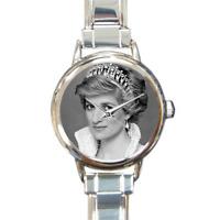 Princess Diana Charm Bracelet Italian Charm Watch Royal Family Memorabilia