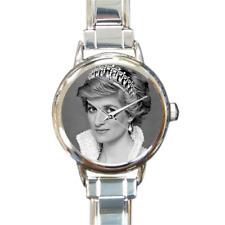 Princesa Diana pulsera con dijes reloj de encanto italiano recuerdos de familia real