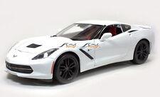 CHEVROLET STINGRAY 1:18 Scale Metal Diecast Car Model Models White