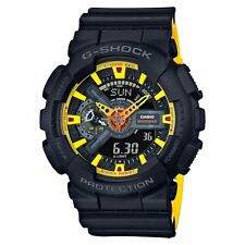 New Casio GA110BY-1A G-Shock Ana-Digital X-Large 2-Tone Black/Yellow Men's Watch