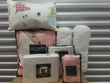 6 piece Laura Ashley Fun Fairies Twin Reversible Quilt Set - ALL NEW