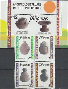 Philippines Block & S/S Archaeological Jars in the Philippines 1995 MNH-6,50 Eur
