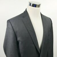 Vince Camuto Mens 42L Slim Fit Sport Coat Dark Charcoal 100% Wool Two Button