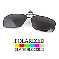 POLARIZED FLIP UP CLIP ON SUNGLASSES 100% UV 400 PROTECTION FISHING METAL FRAME