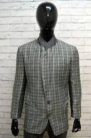 Giacca GIORGIO ARMANI Uomo Taglia M Maglia Blazer Jacket Man Regular Lana Grigia
