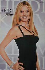 HEIDI KLUM - A3 Poster (ca. 42 x 28 cm) - Model Clippings Fan Sammlung NEU
