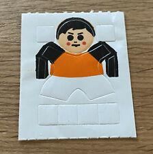 Spielzeug EU - Aufkleberfolie Fußballspieler orange/schwarz