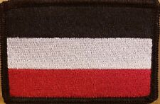 GERMAN EMPIRE 1871 Flag Patch W/ VELCRO Brand Fastener Tactical Military
